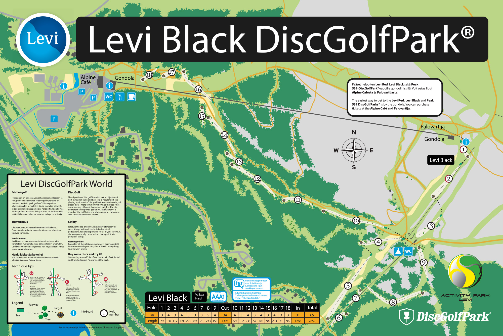 Levi Discgolfpark World Black Discgolfpark