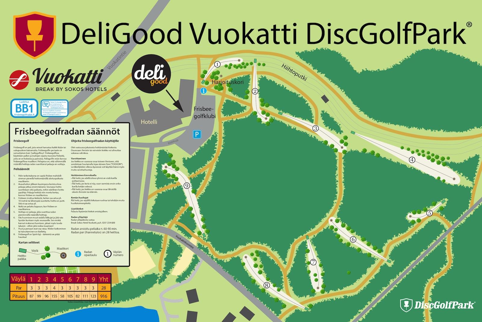 Deligood Vuokatti Discgolfpark Discgolfpark