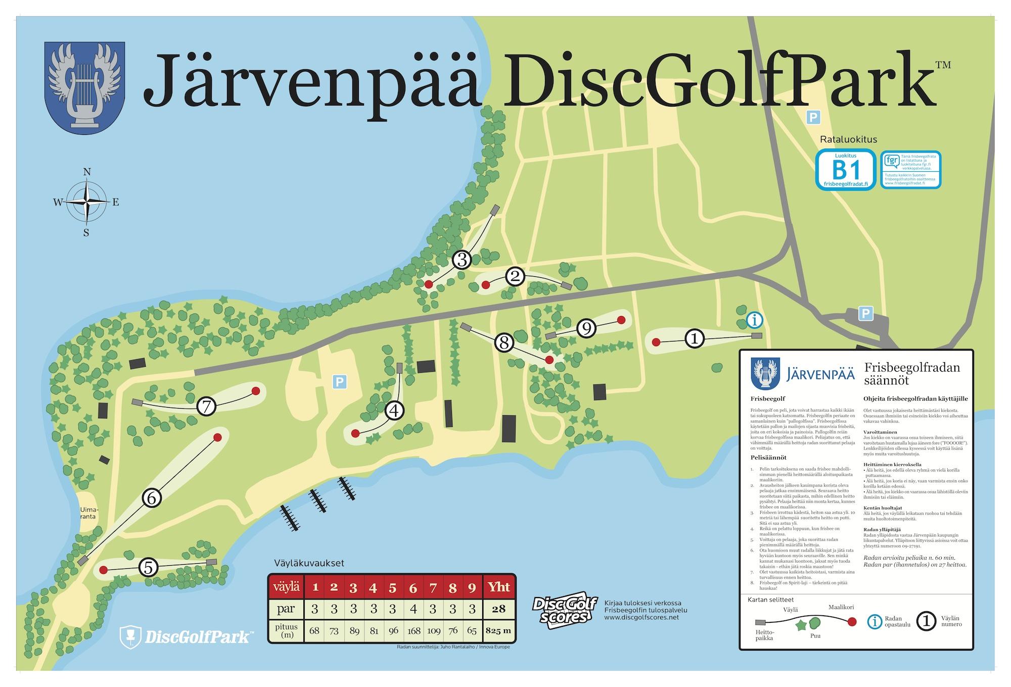 jarvenpaajarvenpaaratakartta2014 DiscGolfPark