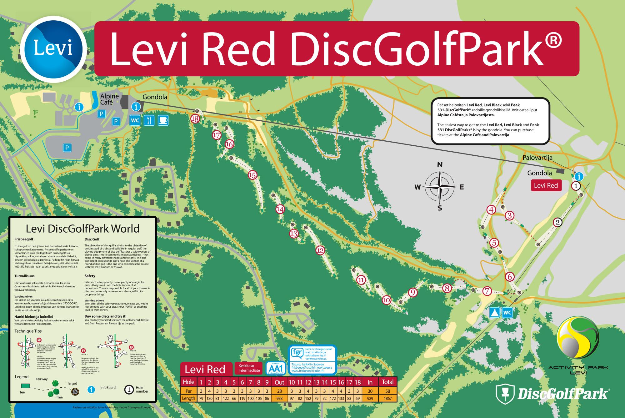 Levi Discgolfpark World Red Discgolfpark